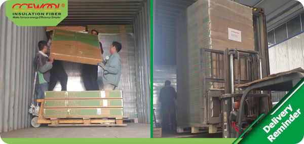 On time shipment – CCEWOOL insulation ceramic fiber board
