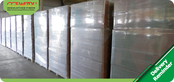 On time shipment – CCEWOOL insulation ceramic board