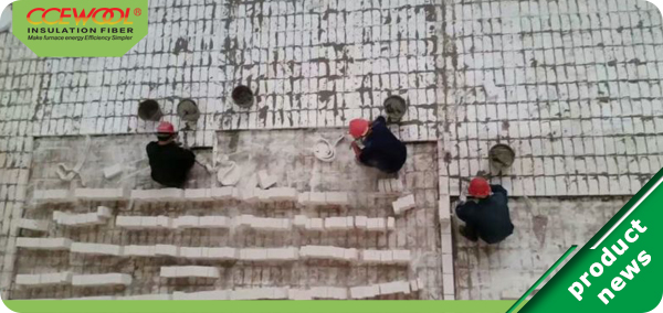 Wet masonry process of mullite insulation fire brick