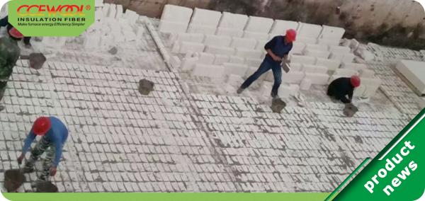 Wet construction process of mullite thermal insulation bricks 2