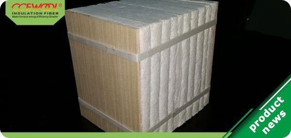 Application of thermal ceramics modules on walking beam furnace
