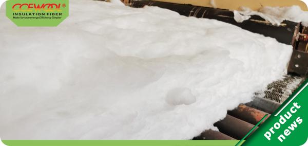 Production process of aluminum silicate refractory fiber