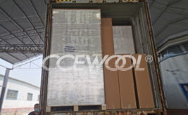 Polish customer - CCEWOOL insulation ceramic fiber board delivery