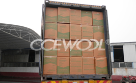 The shipment of CCEWOOL insulating brick and ceramic fiber blanket