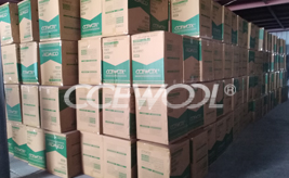 18 containers of CCEWOOL ceramic fiber products are delivered