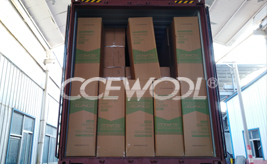 One container of customized CCEWOOL ceramic fiber blanket was delivered